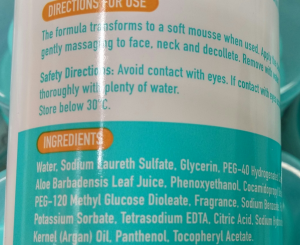 ingredients list_natural product